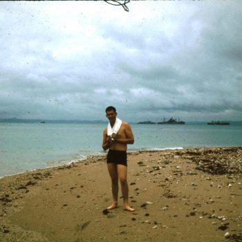 Dennis swimming in Okinawa