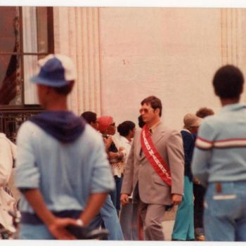 """Dennis as """"Parade Grand Marshal""""  in his hometown of Stamford , CT, circa 1981"""