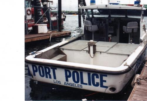 Los Angeles Harbor Police Boat: Uniflite Corsair